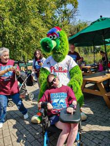 Joanna and the Phillie Phanatic